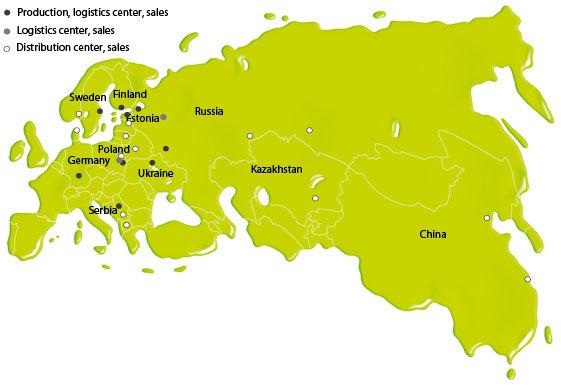 Tikkurila locations 2012